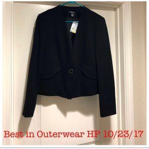 NWT Nine West Blazer Suit Jacket Black Size 8